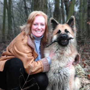 Professional Speaker Lesley Hunter with her dog Keno
