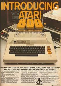 An old advertisement of an Atari 800 computer